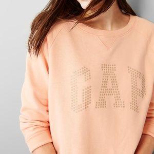 Gap Peach Raglan Sleeve Logo Sweatshirt (EUC}